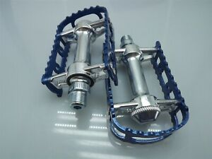 "New MKS BM-7 BMX 9/16"" Pedals Blue Old School Bmx KKT"