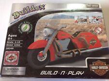 Buildex Harley-Davidson Road King Motorcycle Build Play Collect #20349 NIB
