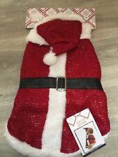 BNWT Invierno Sueños De Navidad Santa Claus perros Traje de Disfraz de tamaño pequeño BN