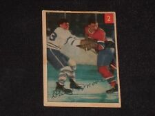 DICKIE MOORE 1954-55 PARKHURST HOCKEY CARD #2 MONTREAL CANADIENS