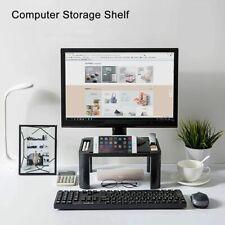 Desktop Monitor Adjustable Stand Computer Screen Riser Shelf Desk Plastic Holder
