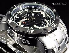 Invicta 48mm ProDiver SCUBA 3.0 Quartz Chronograph Black Dial Silver SS Watch
