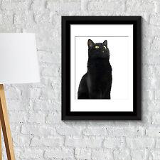 Wall Decoration Frames Cute Black Cat Poster Art School Café Office Home Décor