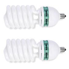 Phot-R 2x Helix Spiral 200W 220V-240V E27 5500K Photo Studio Daylight Bulb Light