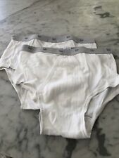 2pair Vintage Christian Dior Mens Cotton Briefs Size 36