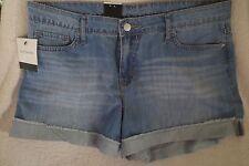 Calvin Klein Women Weekend Jean Shorts Light Blue Parker Size 12 New