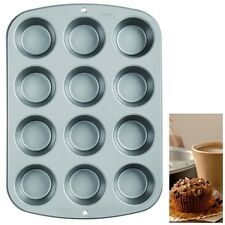 Silicone Mold Tray Pan Muffin Cupcake Baking Cup Nonstick Cake Cookie 12 Mould