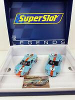 Slot Car Superslot Legends H4041A 1969 Gulf Twin Pack Edizione Limitata