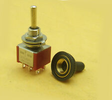 40 PCS waterproof (On) OFF (On) Momentary Mini Toggle Switch 6-pin M6 250V 125V