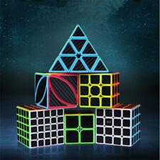 5 Pcs QiYi Carbon Fiber Magic Cube Set High Speed Puzzle Cubes Educational Toys