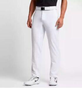 Men's Nike Flex Hybrid Standard Fit Golf Pants 921751-100 White SIZE 38x32 $80