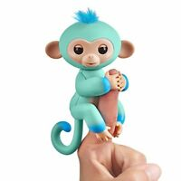 Fingerlings 2Tone Monkey - Eddie Seafoam Green with Blue accents - Interactive