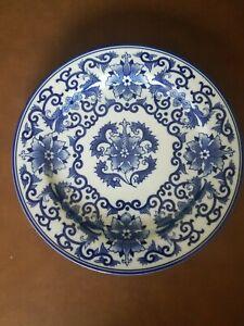 """Bombay Asian Garden Dinner Plate Cobalt Blue 10 3/4""""  A01"""