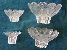 4 DDR Glas Schalen - Lausitzer Glas - 4 verschiedene Größen - gleiches Dekor RAR