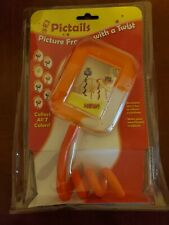 Pictails orange picture frame with bendable tail