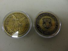 CHALLENGE COIN FREE CAPSULE SHIPPING POLICE SEATTLE DEPARTMENT SAINT MICHAEL