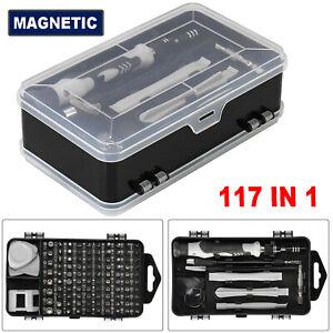 117 In 1 Pro Multi Electric Precision Mini Screwdriver Set Bits Repair Tool Kit