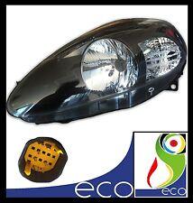 FARO FANALE ANTERIORE SX FIAT GRANDE PUNTO dal 2005 al 2008 P.NERA CON MOTORINO