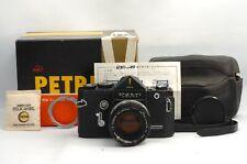 @ Ship in 24 Hours! @ Super Rare! @ Petri Penta Black SLR Film Camera + 55mm f2