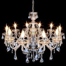 10 Feux Cristal Lampe Lustre Plafonnier SuspensionLluminaire Pendentif Light
