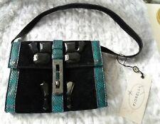 "NEW !!! FIORELLI BLACK and GREEN SMALL EVENING BAG 6,5""x 8"" / 16,5cm x 20 cm"