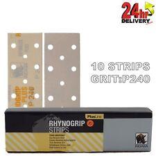 Rhynogrip Plusline 70x198mm P240 Grit 10x HookNLoop Grip Abrasive Sanding Strips