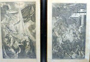Georg Frehling Radierung / Papier, Verkündigungsszene DE ~1800 35,5 x 23,5 cm