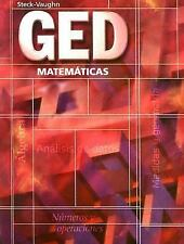 GED Matematicas (Spanish) (Spanish Edition) by Steck-Vaughn Company used w marks