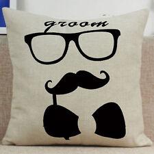 Vintage Funny Words Pillow Case Cotton Linen Sofa Throw Cushion Cover Home Decor