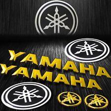"""Metal Reflective Fender Emblem Sticker+8"""" ABS Logo&Letter for Yamaha Chrome Gold"""