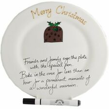 Xmas Pudding Gift Signature Plate (Rd)