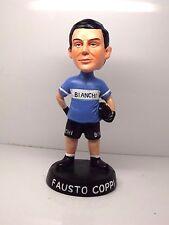 Fausto Coppi team Bianchi celeste, Bobblehead, 7 inch tall. campagnolo