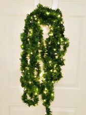 22ft Pine PreLit Lighted Clear Warm Lights Soft Rope Christmas Green Garland