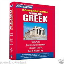 New 8 CD Pimsleur Learn to Speak Greek Language (Modern) (16 Lessons)