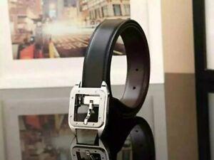 Cartier  belt buckle silver (reversible) Black/ Brown Large