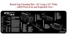 TekMat Gun Long Gun Cleaning Mat  #36AR15BK - BLACK - Rubber Backed - 12W x 36L