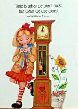Mary Engelbreit Handmade Magnet-Time Is What We Want Most