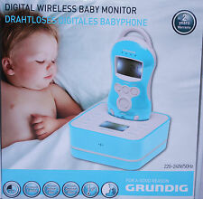Grundig Drahtloses Digitales Babyfon Babyphone Babysitter 5 Melodien in Blau