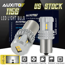 2Pc 1156 7506 White 2600LM LED Turn Signal Light Bulb Rear DRL For Audi Toyota