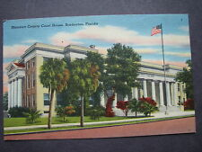 Old Postcard Manatee county Court House, Bradenton, Fla.