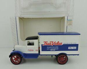 ERTL 1931 Delivery Truck Bank True Value Hardware 1/34 Scale Die-Cast Metal OPEN