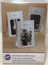 Wilton 10 Table Tent Number & Double-Sided Photo Frame Kit Parties weddings New