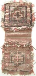 Alt Afghan Nomaden Belutsch Teppich Doppel Tasche Sammler Old Baluch Sattel bag
