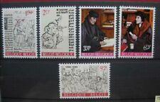 timbres Belgique : culturelle, Erasme et son temps 1967 COB N° 1427 à 1431 **