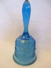 "Vintage Glass Bell 6"" Aqua Blue"