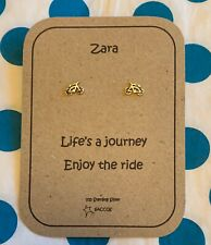 Cycling Bike Gift For Her Sterling Silver Personalised Earrings Saccos