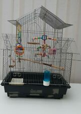 Birds Bigger Cage with all accessories for budgie canary small parrot