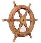 Vintage Ship Wheel Wooden Nautical Boat home Decor Antique