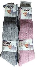 1 Pair Ladies Boot Wool Blend Socks Hiking Walking Long Warm Size UK 4-7
