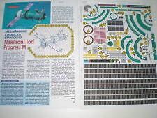 Progress M Spacecraft Czech rare Paper Model